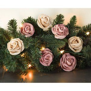Ombre Rosettes (Set of 24) Elegant Floral Decor